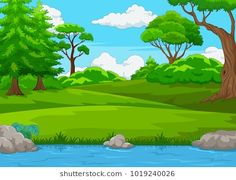 Find Forest Scene Many Trees River Illustration stock images in HD and millions of other royalty-free stock photos, illustrations and vectors in the Shutterstock collection. Thousands of new, high-quality pictures added every day. Scenery Drawing For Kids, Drawing Lessons For Kids, Art Drawings For Kids, Easy Drawings, Kids Background, Background Clipart, Cartoon Background, Background Pictures, Forest Illustration