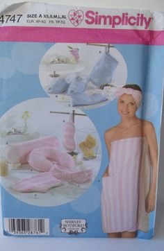 Bath Wrap and Accessories Simplicity 4747 Sewing by WitsEndDesign