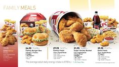 Digital menu board design for KFC designed by Advanced Interactive Media Solutions team, for the UAE Stores Kfc, Menu Board Design, Burger Box, Digital Menu Boards, Appetizer Recipes, Appetizers, Fast Food Restaurant, Original Recipe, Family Meals