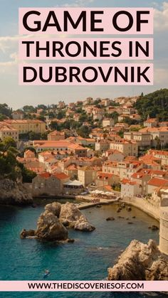 The ULTIMATE Dubrovnik Game of Thrones guide. Trace the footsteps of your favourite characters with this self-guided tour. Dubrovnik - it's ON! Croatia Itinerary, Croatia Travel Guide, Europe Travel Tips, European Travel, Italy Travel, Game Of Thrones Guide, Game Of Thrones Locations, Turkey Destinations, Travel Destinations
