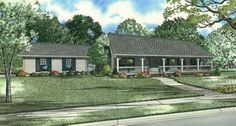 Country Style House Plans - 1800 Square Foot Home, 1 Story, 3 Bedroom and 2 3 Bath, 2 Garage Stalls by Monster House Plans - Plan 12-718