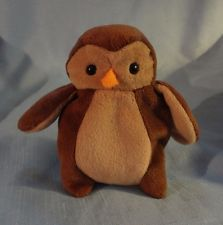 HOOT the owl.  Ty Beanie Babies.  Highly collectible when the boys were little.