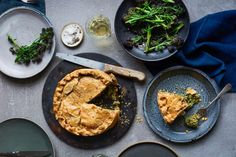 Two seasonal dishes brought back from Easter trips abroad: a torta pasquale from Puglia and pasteis de nata from Portugal Veggie Recipes, Vegetarian Recipes, Veggie Meals, Anna Jones Recipes, Easter Pie, Trips Abroad, Custard Tart, Savory Tart, Eat Seasonal