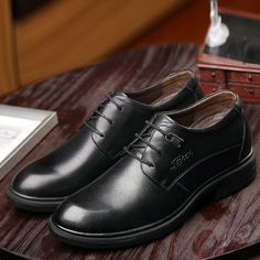 f1c0986d8464 Aliexpress.com   Buy Men Formal Shoes Luxury Male Genuine Leather Dress  Shoes Brand Height Increasing Flat Zapatos Hombre Size 36 37 38 to 45 46 47  from ...