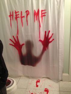 Creepy Halloween Bathroom Decorations