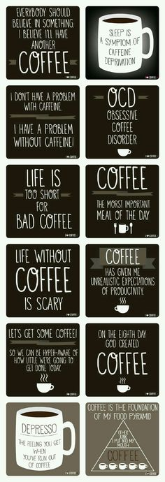I love coffee quotes. I collected my favorite 12 coffee quotes. Coffee Is Life, I Love Coffee, Coffee Art, My Coffee, Coffee Drinks, Coffee Cups, Coffee Lovers, Coffee Break, Starbucks Coffee