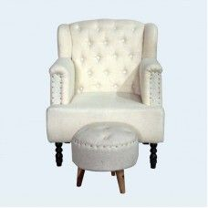 Set of Superb Sofa Chair With Stool would enhance the charm and value of your home. The magnificent sofa chair has white colored upholstery any tiny curvy legs whereas the round stool has inclined legs with smooth upholstery. Buy Sofa Online, Round Stool, Sofa Shop, Sofa Chair, Home Furnishings, Accent Chairs, Upholstery, Curvy, Smooth