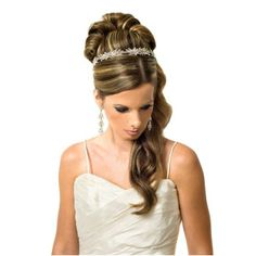 Swarovski Crystal AB Flower Tiara Band - Bridal Jewellery - Crystal Bridal Accessories