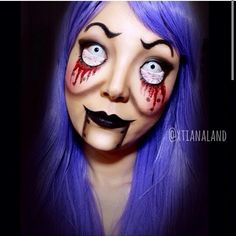 """Possessed ventriloquist doll"". By the talented mua xtianaland.  @instagram"