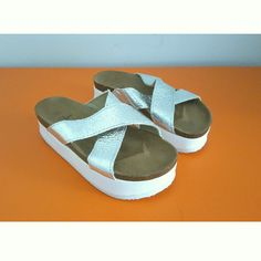 Atmosphere Mettalic Platform Womens Sandal, check out our depop shop