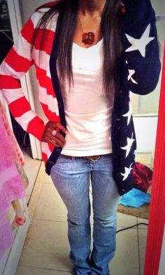 Wearing the All American Girl Cardigan from our Fall 2013 line
