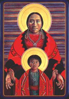 Navajo virgin and child
