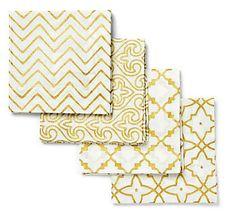 gold foil cloth napkins