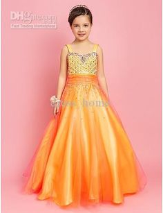 Wholesale Angel A Line spaghetti Straps Floor Length Rhinestone Beaded Yellow Organza Flower Gril Dresses, Free shipping, $85.12-91.84/Piece | DHgate