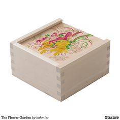 The Flower Garden Wooden Keepsake Box