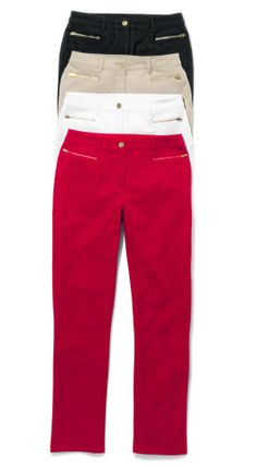 The So Slimming™ Pant: Now in a fabulous slim-leg style. Instantly slimming, secretly shaping. Chicos ValentinesDay Red Love