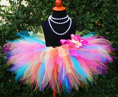 V would love this! Girls Tutu Birthday Tutu Tropical Mix Pink by TiarasTutus,