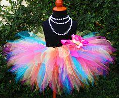 V would love this! Girls Tutu Birthday Tutu Tropical Mix Pink by TiarasTutus,