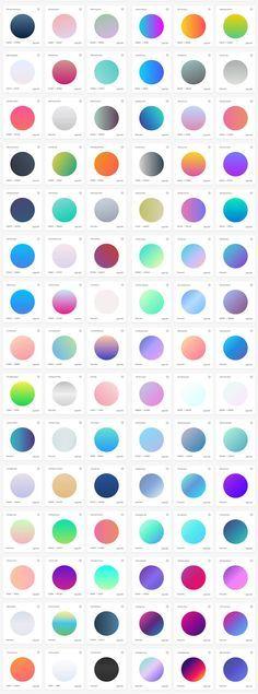 最近のウェブデザインでよく見かける、鮮やかな配色のグラデーションカラーをお探しですか。WebGradients では、どんなウェブサイトでも利用できる美しいグラデーションカラー180種類を揃えた、無料の配色コレクションツールです。
