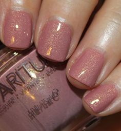 Arroyo is a dusty mauve/pink with golden shimmer