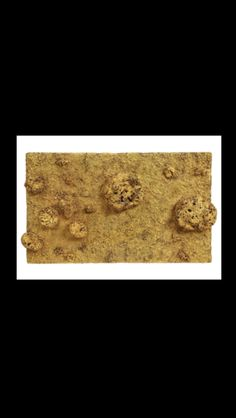 """Yves Klein - """"Relief éponge or (RE 47 II) """", 1961 - Gold leaf, natural sponges, pebbles and synthetic resin on wood panel - 45,5 x 80 x 7,5 cm"""