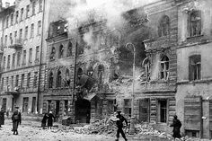 A street after a German artillery raid during the Siege of Leningrad, 1 January 1942. RIA Novosti archive