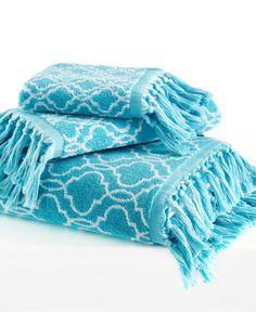 "Dena Home Tangier Jacquard 16"" x 28"" Hand Towel - Bath Towels - Bed & Bath - Macy's"