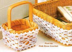DIÁRIO DO CROCHE...: CESTO       ♪ ♪ ... #inspiration_crochet #diy GB