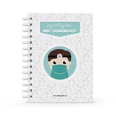 Cuaderno - Las notas del instrumentador quirúrgico, encuentra este producto en nuestra tienda online y personalízalo con un nombre. Office Supplies, Notebook, Notebooks, Report Cards, Store, The Notebook, Exercise Book