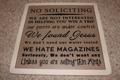 need this sign