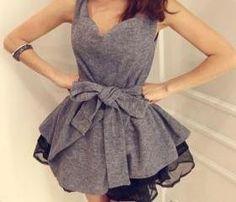 cute tie waist chiffon dress :)