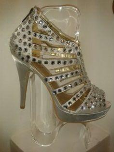 silver sparkle shoes x