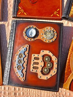 Designed by Wilson #Steampunk #leather #journal - #steel #leather journals  #stainless steel #book covers