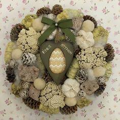 Summer Wreath, Burlap Wreath, Dried Flowers, Diy And Crafts, Easter, Wreaths, Spring, Villa, Home Decor