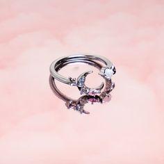 Sterling Silver Wedding Rings, Silver Engagement Rings, Silver Necklaces, Silver Earrings, Silver Jewelry, Moon And Star Ring, Star Jewelry, Moon Necklace, Dainty Jewelry