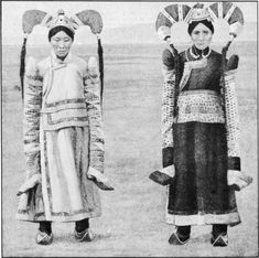 Mongolian Women in Their Traditional Costumes in the early 1900s