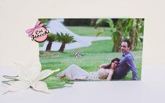 Una partecipazione di nozze può essere personalizzata anche con una foto, come hanno fatto i nostri sposi Francesco&Silvana