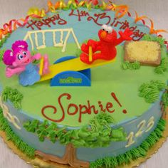 Elmo And Abby Cake Decoration : Elmo & Abby teeter totter cake kit! Super cute decoration ...