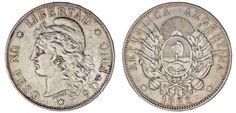 1 SILVER PESO / 1 PESO DE PLATA. ARGENTINA.1882. XF-/EBC-. ATRACTIVA.