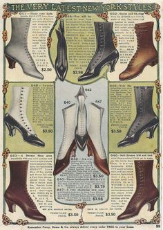 Vintage Advertisement Shoes Edwardian 1917 by VintageButtercup Edwardian Shoes, Victorian Shoes, Edwardian Fashion, Vintage Fashion, Edwardian Era, Edwardian Costumes, Mode Vintage, Vintage Shoes, Vintage Outfits
