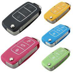 3 버튼 포경 블레이드 원격 자동차 키 케이스 블레이드 폭스 바겐 제타 비틀 자동차 키 쉘 Fob 접는 플립 교체 열쇠가없는 자동차 커버