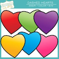 The Dashed Hearts clip art freebie includes 6 color images and 2 black & white images. Each heart has a dashed line rather than a solid line. All images are 300dpi for better scaling and printing.  You will receive: * 6 color png images * 2 black & white png images  Terms of Use:  You can use the clip art in educational commercial products.
