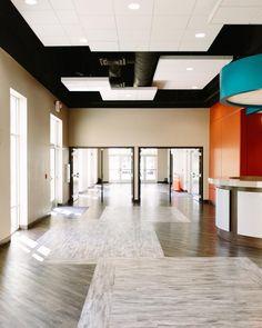 School lobby addition at New Life Academy, Woodbury MN. Curtainwall ...