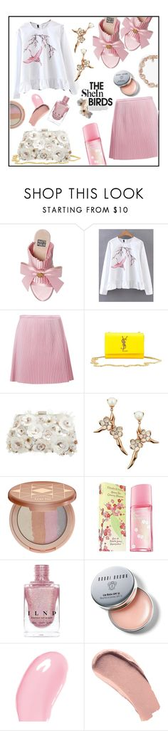 """""""Blossoms of Style"""" by jckallan ❤ liked on Polyvore featuring FAUSTO PUGLISI, WithChic, TIBI, Yves Saint Laurent, Accessorize, Shaun Leane, tarte, Elizabeth Arden, INDIE HAIR and Bobbi Brown Cosmetics"""