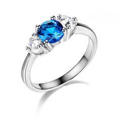 3 Stones Round Gemstone And Prong Set Cubic Zirconia Wedding Ring China Manufacturer Wholesale
