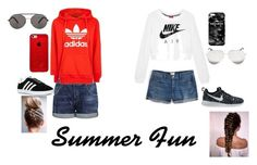 """""""Summer fun"""" by peaches200214 on Polyvore featuring J.Crew, Citizens of Humanity, NIKE, adidas, Victoria Beckham, Seafolly and Mr. Gugu & Miss Go"""