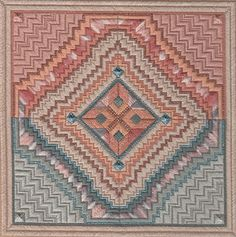 Needlepoint Aransas A Structured Geometric Texas Design by Dakota Rogers | eBay