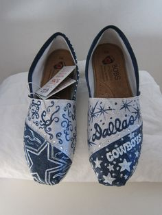 Hand Painted Dallas Cowboys shoes by PaintedDreamsbyDS on Etsy, $110.00