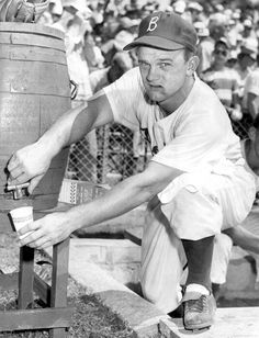 Don Zimmer, 1955 Brooklyn Dodgers - utility infielder Baseball Park, Dodgers Baseball, Baseball Players, Pro Baseball, Baseball Stuff, Football, Baseball Motivational Quotes, Baseball Pictures, Ny Mets