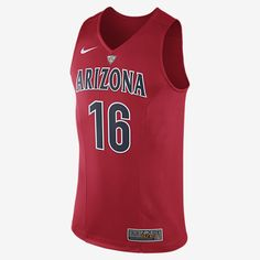 REPRESENT YOUR TEAM The Nike College Authentic Hyper Elite (Arizona) Men's Basketball Jersey features game-day details on breathable sweat-wicking fabric. Product Details Dri-FIT fabric helps keep you dry and comfortable V-neck with school crest appliqué Fabric: Dri-FIT 100% recycled polyester Machine wash Imported